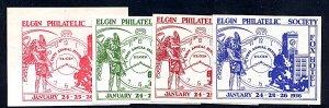 Philatelic Cinderella Elgin Phil. Society 1936 Complete