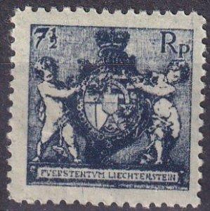 Liechtenstein #58  F-VF Unused CV $7.00  (Z3147)