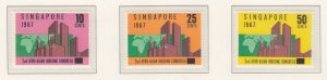 SINGAPORE, 1967 Housing Congress set of 3, mnh.
