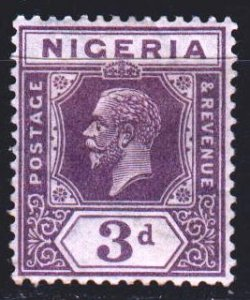 Nigeria. 1924. 17 I from the series. King of Great Britain. MLH.