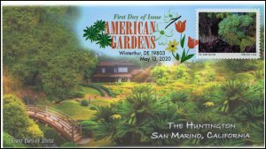 20-119, 2020, American Gardens, Digital Color Postmark, First Day Cover, The Hun