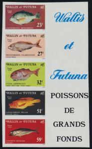 Wallis & Futuna 260a imperf MNH Fish
