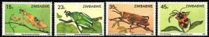 Zimbabwe - 1988 Insects Set MNH**SG 724-727