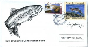 1998 New Brunswick Wildlife Rainbow Trout by R Jenkins