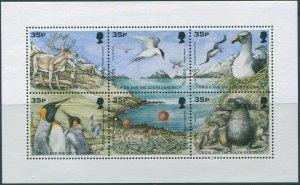 South Georgia 1998 SG277 Wildlife sheet MNH