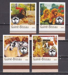 Guinea Bissau, 2003 issue. Thailand Jamboree, Dogs & Scout. IMPERF issue. ^