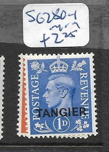 MOROCCO   (P2005B) KGVI ON GREAT BRITAIN  TANGIER SG 280-1  MOG