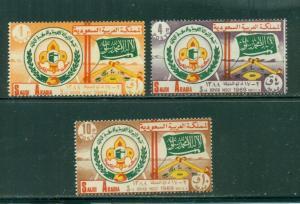 Saudi Arabia #607-9 comp mnh cv $22.50 Scouts