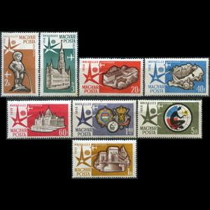 HUNGARY 1958 - Scott# C176-83 Expo. Set of 8 NH
