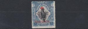 NORTH BORNEO  1918    S G  243  12C + 4C BLUE     MH