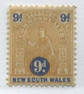 New South Wales 1906 9d perf 12 by 12 1/2 mint o.g.