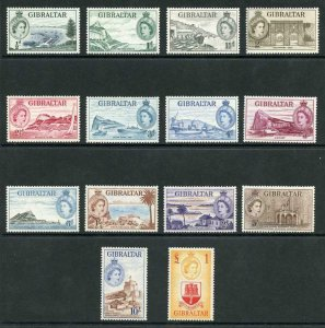 Gibraltar SG145/58 1953 Set (5/- tiny corner bend) U/M