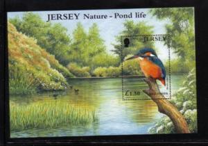 Jersey  Sc 995 2001 Kingfisher Pond Life stamp sheet NH
