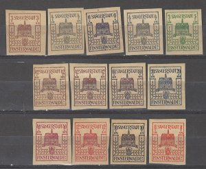 COLLECTION LOT # 5360 FINSTERWALDE 13 MH STAMPS 1946 CLEARANCE