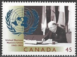 Canada  1584 MNH  United Nations 50th Anniversary