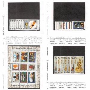 Lot of 53 Mongolia MNH Mint Stamps Scott Range 1838 - 2255 #145380 X R
