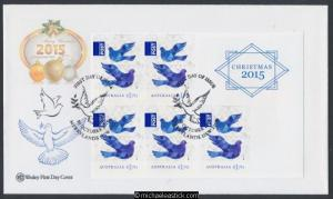 30-Oct-2015 Australia Christmas International Post Booklet Wesley FDC