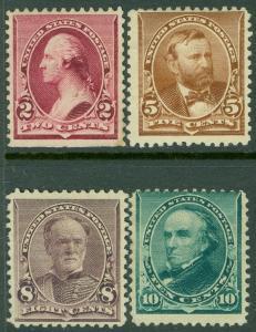 EDW1949SELL : USA 1890-1893 Scott #219D, 223, 225-26 Mint No Gum. Catalog $465.