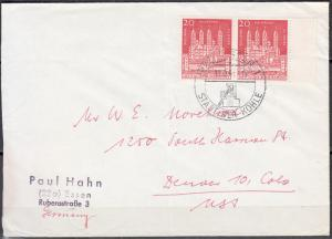 Germany - 13.9.1961 Anniversary of Speyer Cathedral MeF franking  to USA (5226)