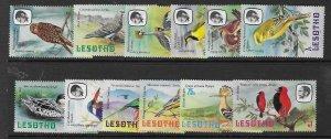 Lesotho 321-332  1981  Birds  12 of 14  VF  NH