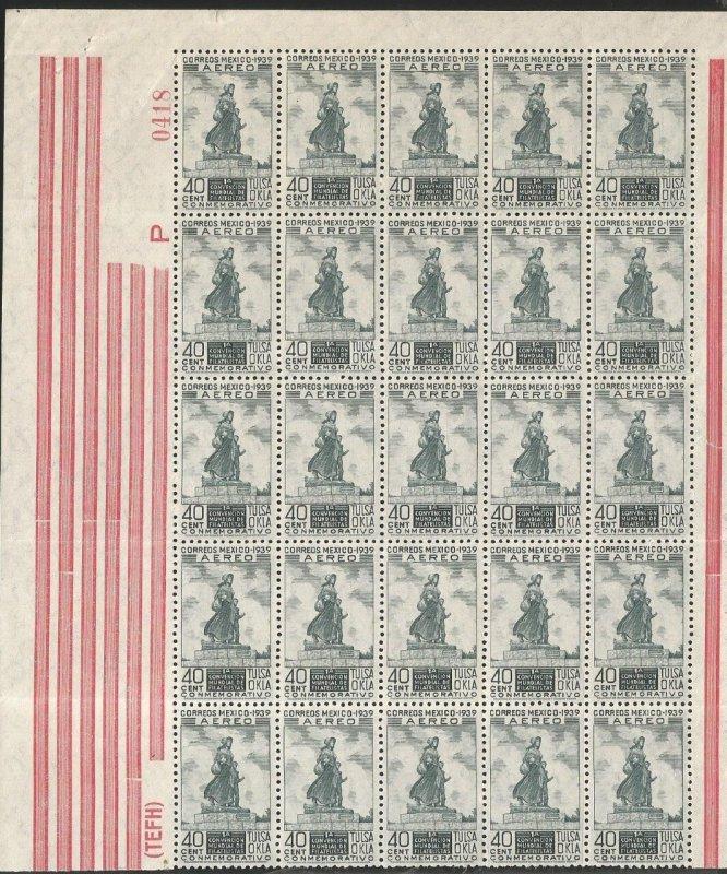 O) 1939 MEXICO, STATUE OF PIONEER WOMAN, PONCA CITY, TULSA WORLD PHILATELIC C...