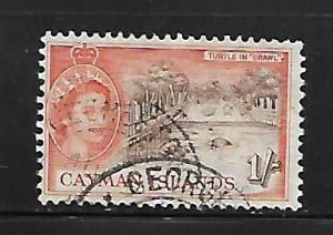 CAYMAN ISLANDS, 145, USED, TYPES OF 1950 WITH PORTRAIT OF QUEEN ELIZABETH