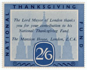 (I.B) Cinderella Collection : National Thanksgiving Fund 2/6d