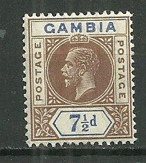 1912 Gambia 7½d KGV MNH