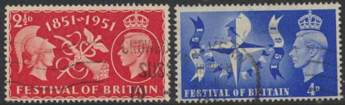 GB George VI  SG 513 -514 Used