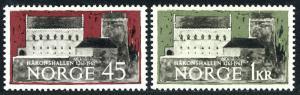 Norway 393-394, MNH. 700th anniv. of Haakonshallen, castle in Bergen, 1961