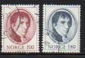 Norway Sc  621-2 1973 Jacob Aall stamp set used