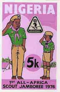 Nigeria 1977 First All-Africa Scout Jamboree - original h...