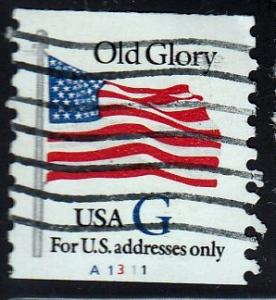 U.S. #2890 Old Glory, PNC. Used, paper adhered to back.