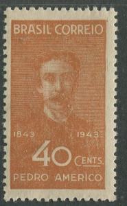 Brazil - Scott 618 - Pedro Americo Artist - 1943 - MNH- Single 40c Stamp