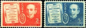 Cuba #364-365 Dr. Gutierrez MNH