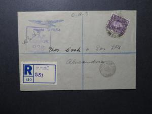Great Britain 1944 Forces in Egypt Cover / Registerd/ RAF Censor - Z12292