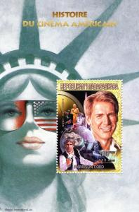 MADAGASCAR 1999 Sc#1414Ad Star Wars-Harrison Ford Souvenir Sheet Perforated MNH