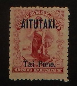 Aitutaki 2. 1903 1p Rose