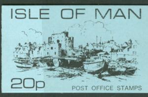 Great Britain-Isle Man # 13,21   20p. Complete Bklt  Mint NH