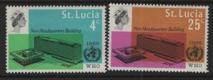 ST. LUCIA, 209-210, HINGED, 1966, WHO Headquarters issue