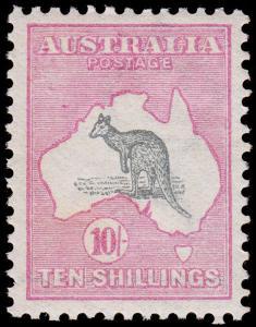 Australia Scott 13 (1913) Mint VLH VF, CV $1600.00 M