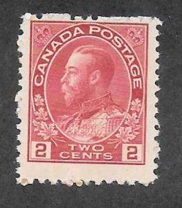 Canada Scott #106 Mint NH 2c King George V  2018 CV $60.00