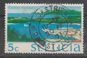 St. Lucia 1970/1973 QEII portrait & Various Designs 5c (1/15) USED