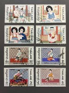 Thailand 557-560,568-571 F-VF Used. Scott $ 5.75