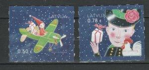 Latvia 2016 Christmas 2 MNH stamps