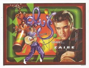 Zaire - 1997 Singer Elvis Presley - Stamp Souvenir Sheet - 26B-002