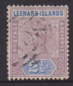 Leeward Islands Sc#3 Used Postmark A08