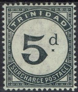 TRINIDAD 1885 POSTAGE DUE 5D WMK CROWN CA