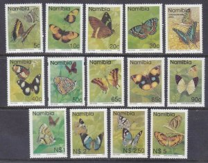 Namibia 742-754 MNH 1993-94 Butterflies Full Set of 14 Very Fine