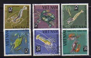 North Vietnam 368-372 Set U Crustaceons (C)